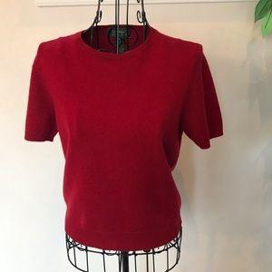Lauren Ralph Lauren 100% Cashmere Short Sleeve Top